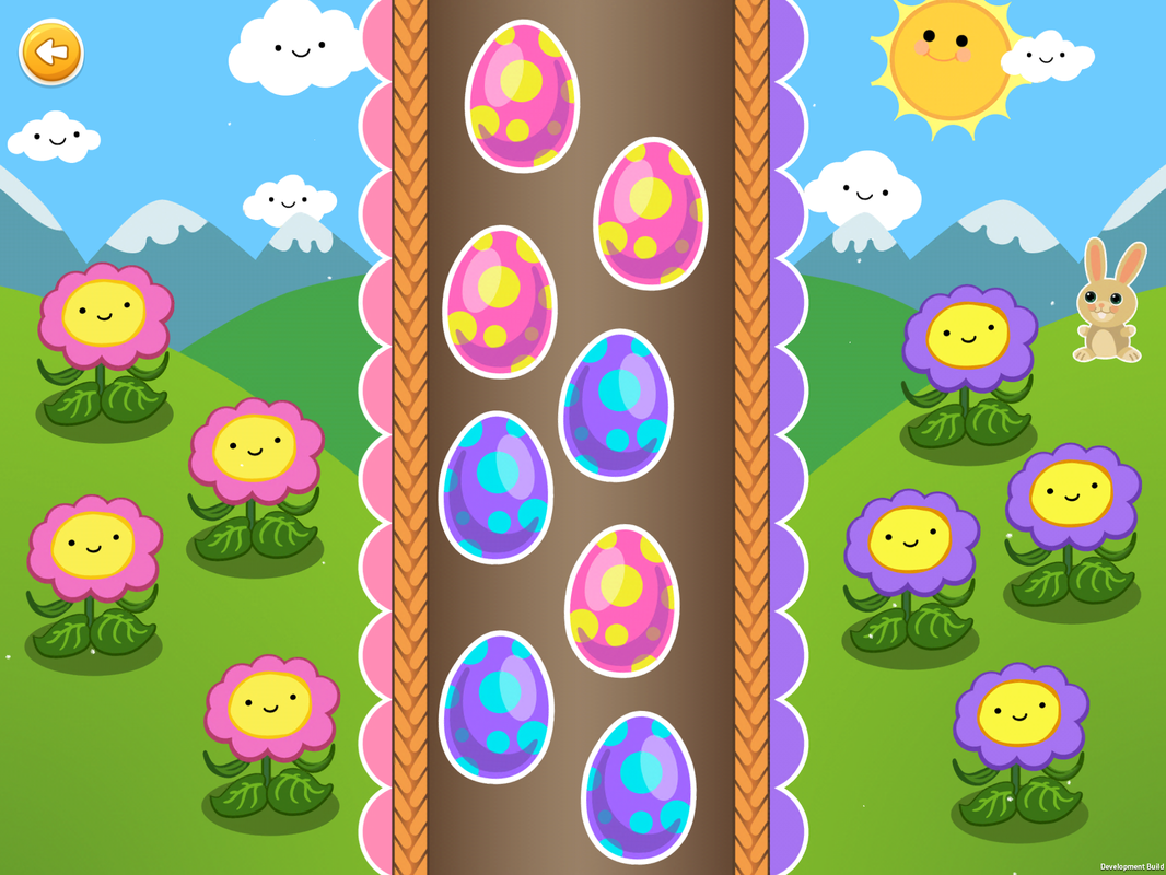 Sorting Games, Level 1, sorting eggs by color