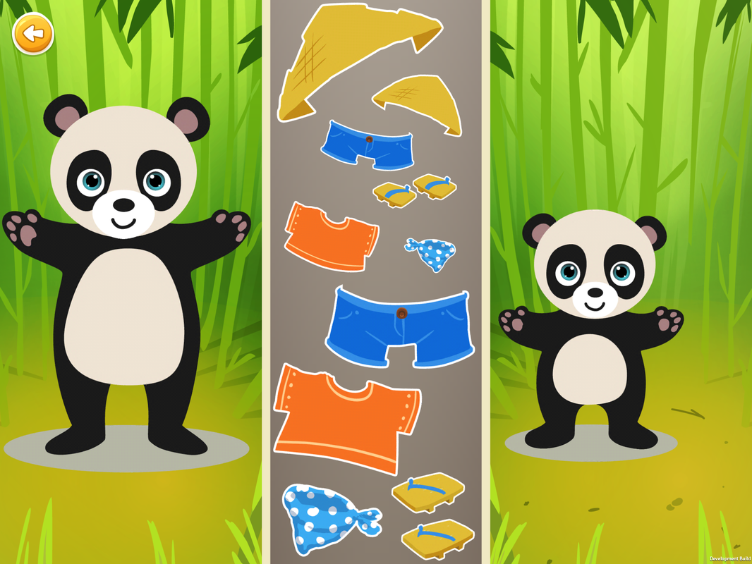 Sorting Games, Level 4, Clothes, Shapes, Size, Pandas