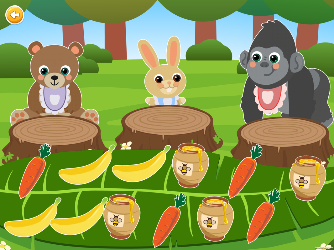 Sorting Games, Level 7, sorting food by animals